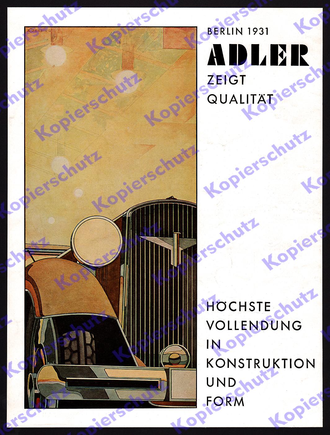 zoberbier farbreklame auto adler primus cabrio frankfurt art deco iaa berlin 31 ebay. Black Bedroom Furniture Sets. Home Design Ideas