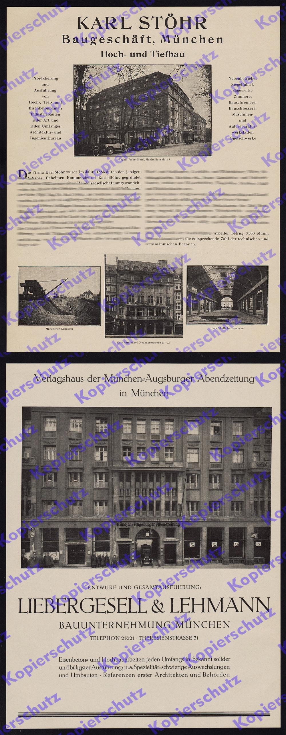 m nchen bauwesen architektur st hr liebergesell stadtgeschichte jugendstil 1927 ebay. Black Bedroom Furniture Sets. Home Design Ideas