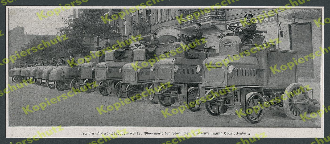hansa lloyd elektro auto lkw stra enreinigung berlin charlottenburg bremen 1916 ebay. Black Bedroom Furniture Sets. Home Design Ideas