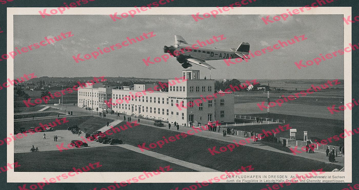 Details Zu Flughafen Dresden Klotzsche Junkers Ju 52 D Ajan Lufthansa Dlh Luftfahrt 1938