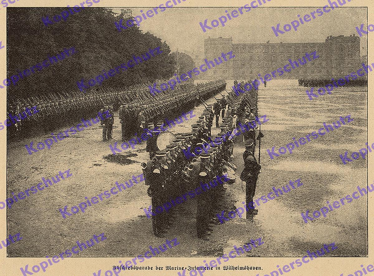 Preussen-Kaiserliche Marine Schwarz Seebattallion Marine-Infantrie