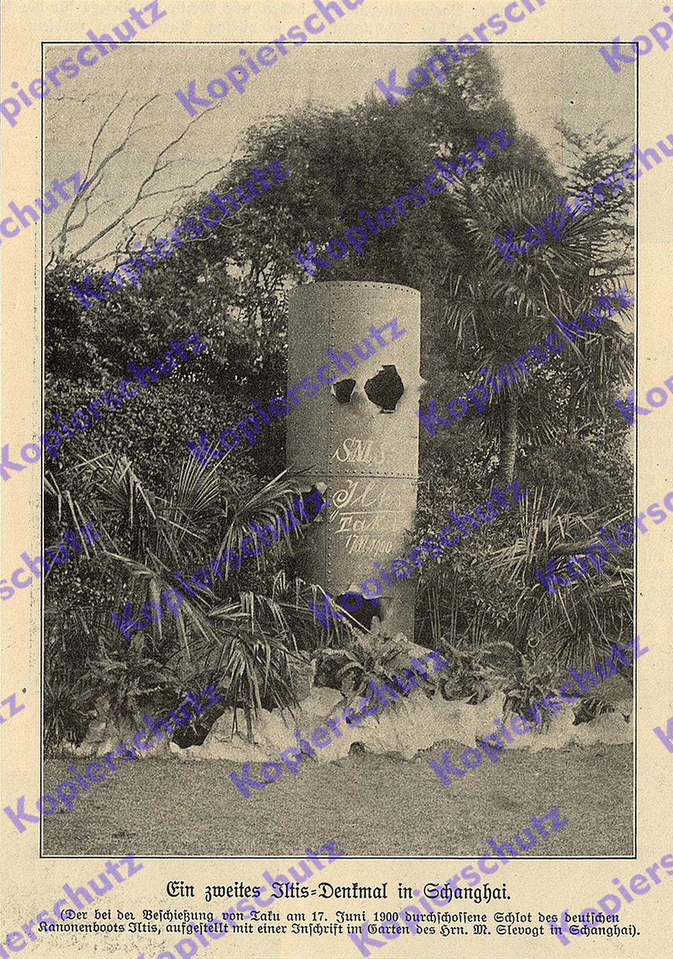 Schanghai Denkmal Sms Iltis Kaiserliche Marine Boxeraufstand China Slevogt 1900 Ebay