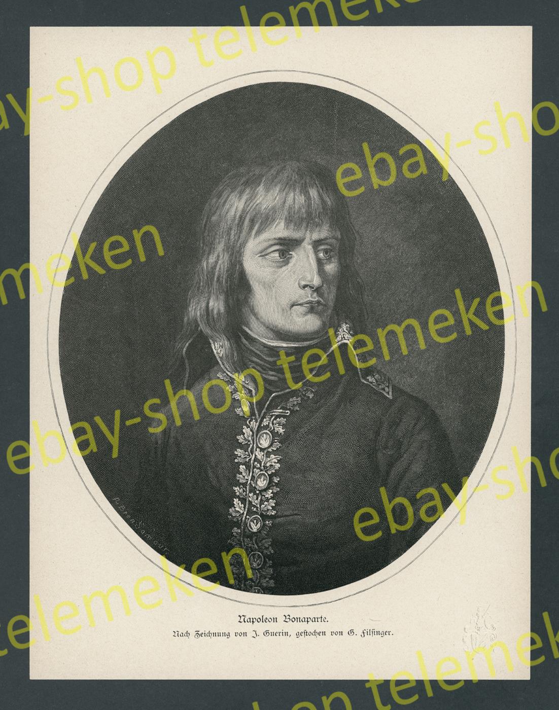 Guérin Fiesinger Porträt General Napoleon Wappen Frankreich Militär